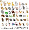 Large set of animals - stock photo