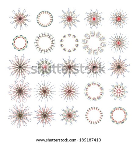 Large set of Kaleidoscope Flower Patterns