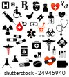 Large Set of Medical Symbols - stock vector