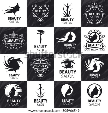 Large Set Of Vector Logos For Beauty Salon
