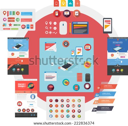 Large set of web graphics - stock vector