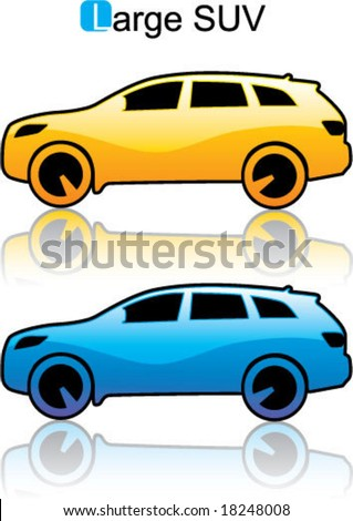 Large SUV car icon Illustration - stock vector