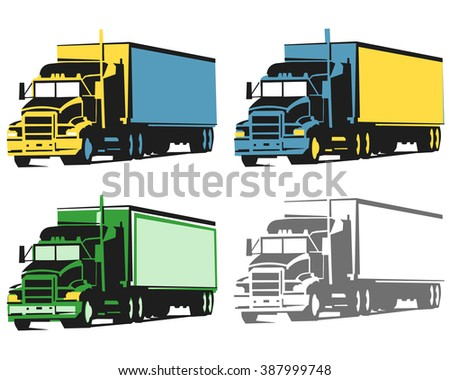 Large  truck with container for load