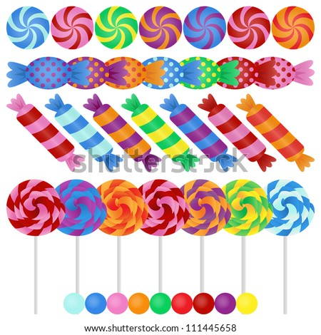 Large Vector Candy Set - EPS10 - stock vector