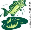Largemouth bass - stock vector