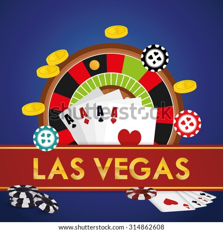 Las Vegas concept with casino icons design, vector illustration 10 eps graphic. - stock vector