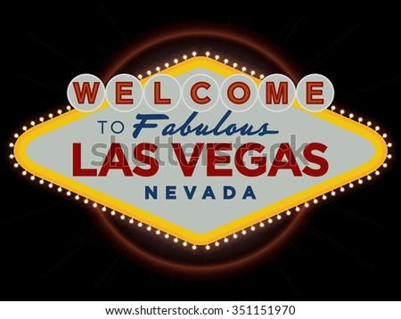Las Vegas Nevada USA greeting sign vector design - stock vector