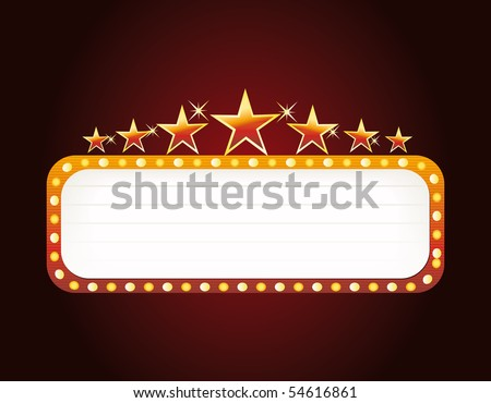 las vegas sign - stock vector