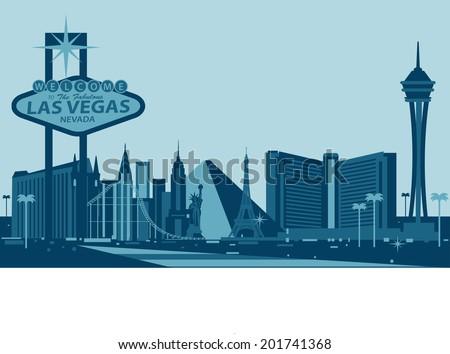 Las Vegas skyline - stock vector