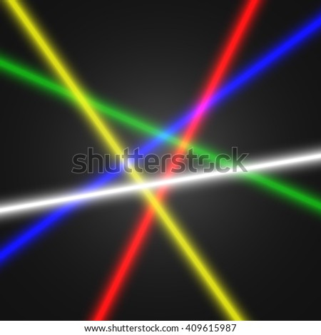 Laser beams. Vector illustration.
