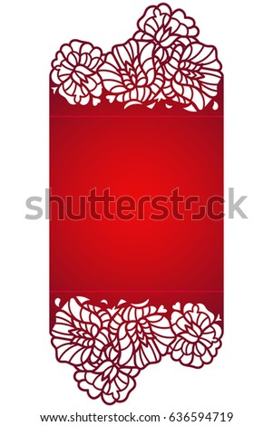 Laser cut flower pattern decorative panel stock vector 636594719 laser cut flower pattern for decorative panel vector template ready for printing postcards packets stopboris Images