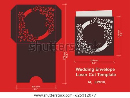 Laser cut flower pattern wedding invitation stock vector 625312079 laser cut flower pattern for wedding invitation envelope vector template floral panel for paper stopboris Choice Image