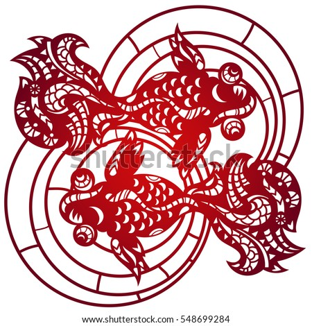 chinese paper cutting templates dragon - dragon gold painting illustration design over stock vector