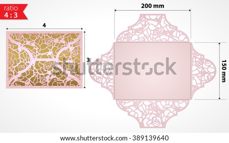 Laser cut lace roses card template stock vector 389139640 laser cut lace roses card template vector vector template laser cut wedding invitation laser stopboris Image collections