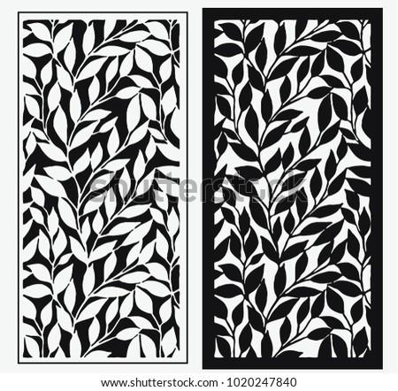 laser cut template leaf cnc panels