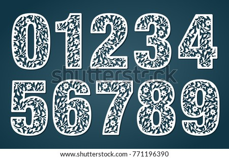 laser cut template set laser cutting stock vector royalty free