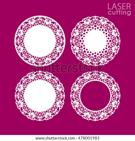 Laser Cut Vector Frame Collection Set Stock Vector 478001983 ...