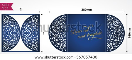 Laser cut wedding invitation template may stock vector 367057400 laser cut wedding invitation template may be used for cutting machines cutout paper wedding stopboris Images