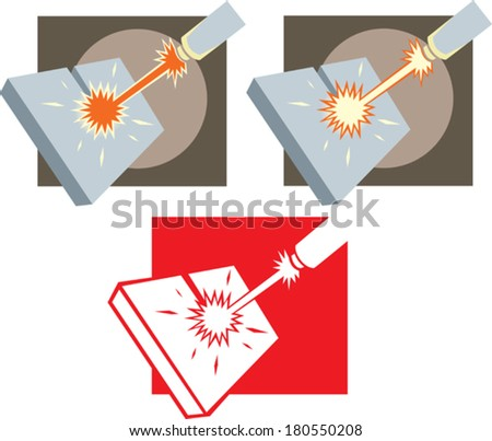 Laser cutter icon  - stock vector