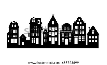 Kleurplaat Amsterdamse Huisjes Coloriage Maison Manoir