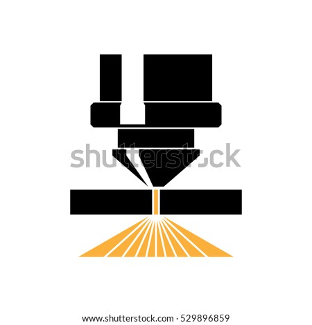 Laser Cutting Icon Vector Stock Vector 529896859