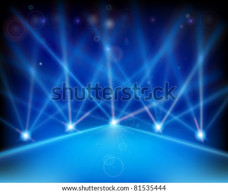 Laser effect of Stage. Vector illustration. - stock vector