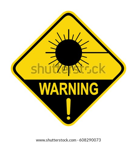 Laser Radiation Sign Symbol Stock Vector 608290073 Shutterstock