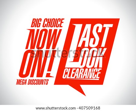 Last look clearance now on, sale banner