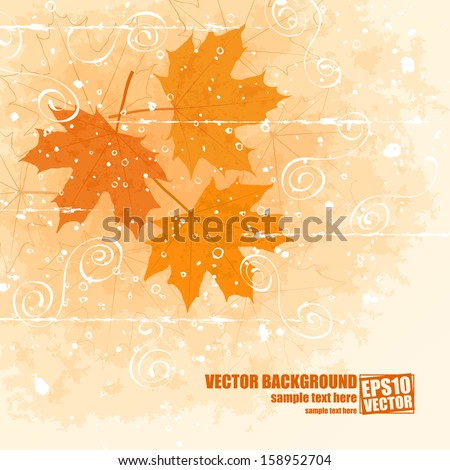 Late autumn vector background  - stock vector
