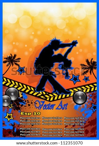 Latino dance, salsa, bachata, merengue flyer for night party or salsa exhibitions. - stock vector