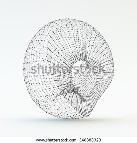 Lattice Geometric Polygonal Element. Connection Structure. Vector Illustration. - stock vector