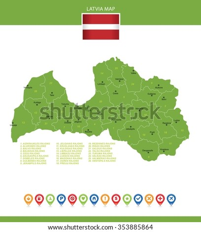 Latvia Map Stock Images RoyaltyFree Images Vectors Shutterstock - Latvia map