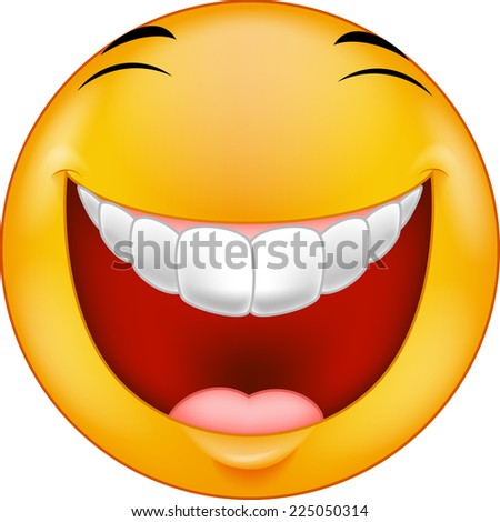 Laughing smiley - stock vector