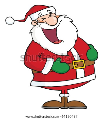 Laughs Santa Claus - stock vector