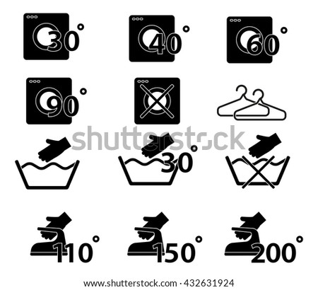 Laundry And Washing icon set