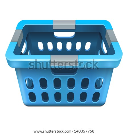 laundry basket 10eps - stock vector