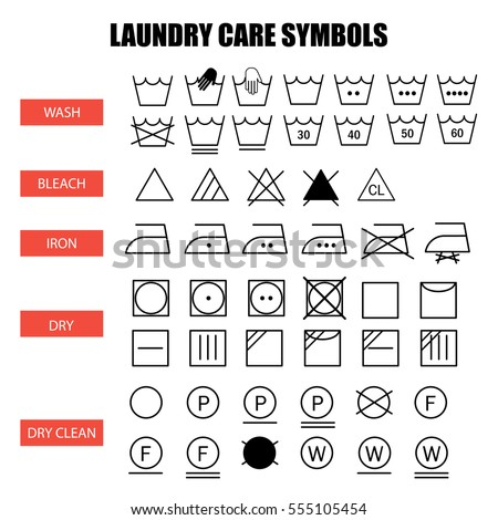 Washing Instruction Symbols And Meanings