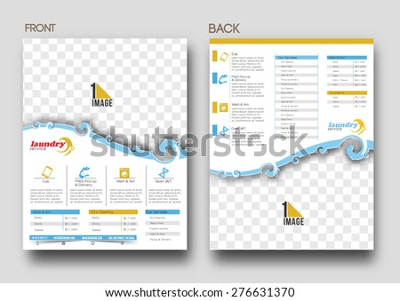 Laundry Service Flyer Poster Template Stock Photo Photo Vector