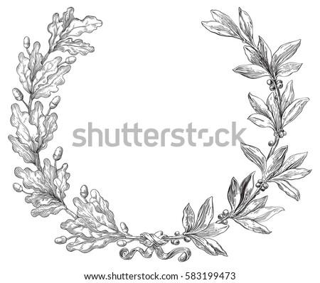 Laurel stock images royalty free images vectors for Laurel leaf crown template