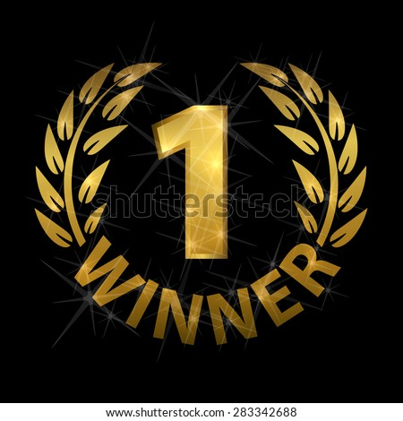 Laurel for first place - stock vector