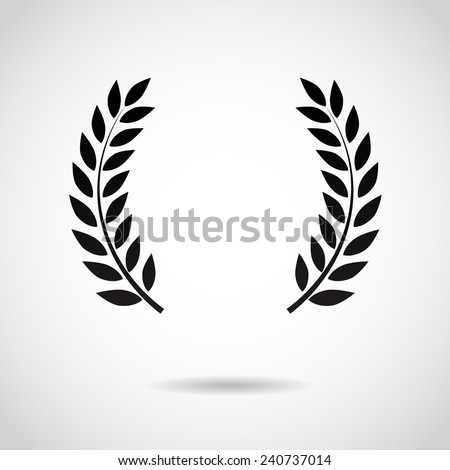 Laurel icon isolated on white background. Vector art. - stock vector
