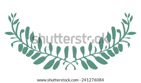 Laurel, olive wreath - stock vector