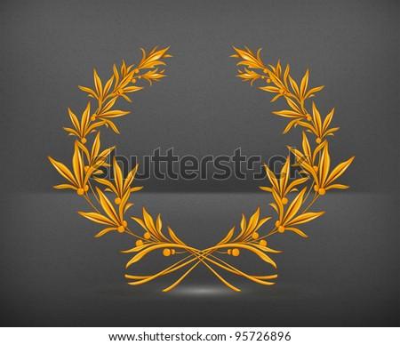 Laurel Wreath Bronze, vector - stock vector