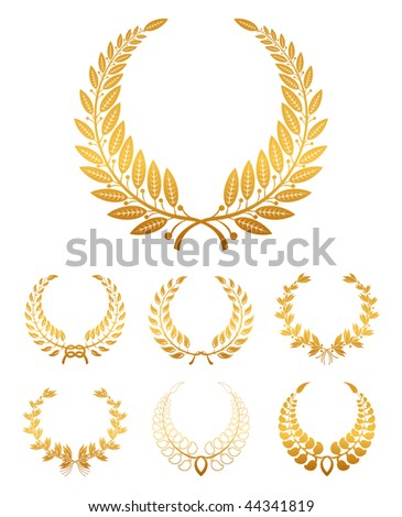 Laurel Wreath, set - stock vector