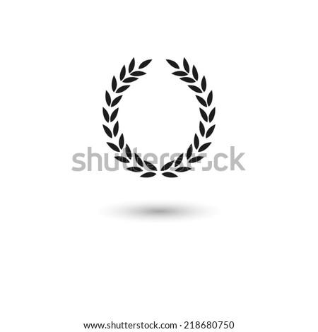 Laurel Wreath - vector icon - stock vector