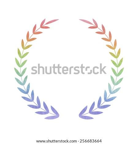 Laurel Wreath. Vector icon. Watercolor effect - stock vector