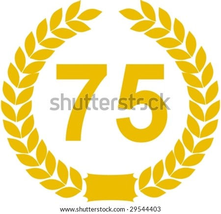 laurel wreath 75 years