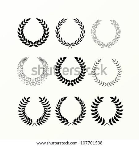 laurel wreaths - stock vector
