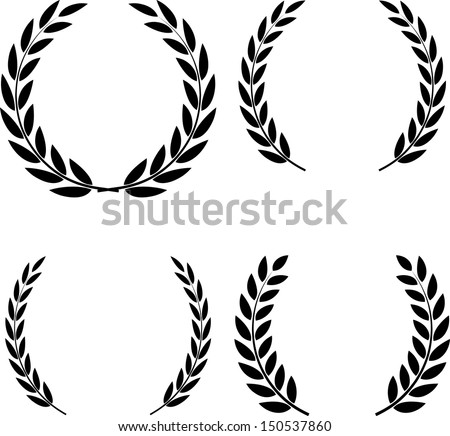 Laurel Wreaths Vector - stock vector