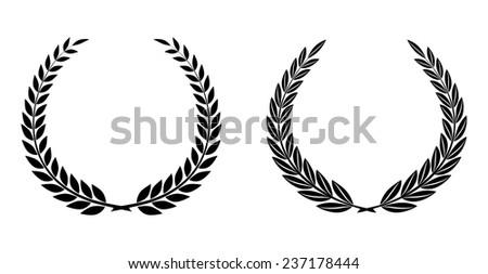 Laurel Wreaths Vector  - stock vector
